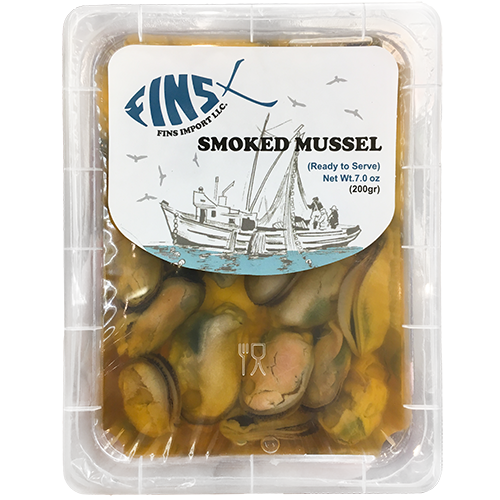 FINS IMPORT LLC - SMOKED MUSSEL IN OIL - 7oz