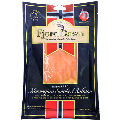 FJORD DAWN - NORWEGIAN SMOKED SALMON - 4oz