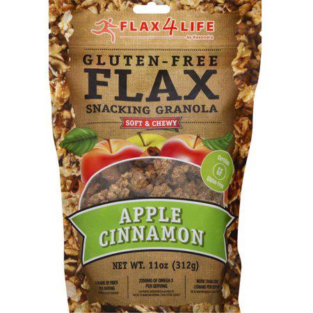 FLAX 4 LIFE - GLUTEN FREE FLAX SNACKING GRANOLA - (Apple Cinnamon) - 11oz