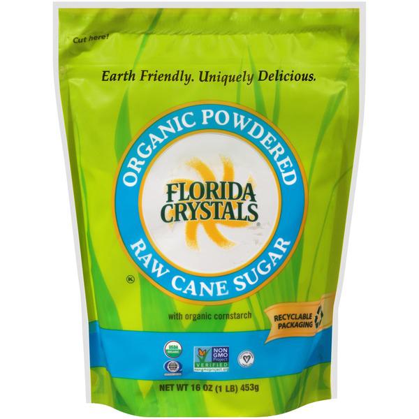 FLORIDA CRYSTALS - ORGANIC POWDERED RAW CANE SUGAR - NON GMO - 32oz