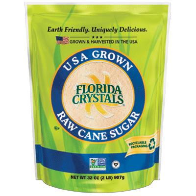 FLORIDA CRYSTALS - USA GROWN RAW CANE SUGAR - NON GMO - 32oz
