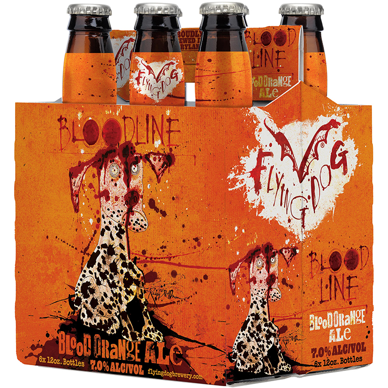 FLYINGDOG - BLOODLINE BLOOD ORANGE ALE - (Bottle) - 12oz(6PK)