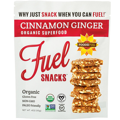 FOODIE FUEL - FUEL SNACKS - (Cinnamon Ginger) - 4oz