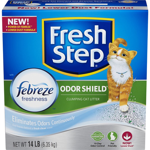 FRESH STEP - ODOR SHIELD - (Eliminated Odors Continuously) - 14LB