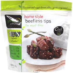 GARDEIN - HOME STYLE BEEFLESS TIPS - NON GMO - VEGAN - 9oz