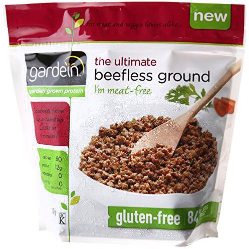 GARDEIN - THE ULTIMATE BEEFLESS GROUND - NON GMO - GLUTEN FREE - 13.7oz