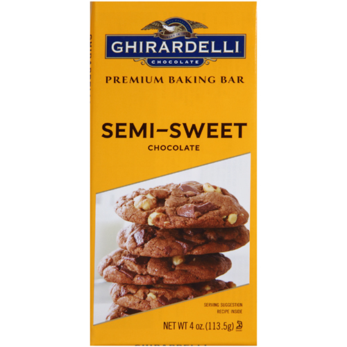 GHIRARDELLI - CHOCOLATE BAR - (Semi Sweet) - 4oz