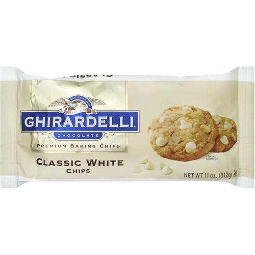 GHIRARDELLI - PREMIUM BAKING CHIPS - (Classic White) - 11oz