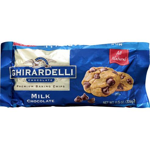 GHIRARDELLI - PREMIUM BAKING CHIPS - (Milk Chocolate) - 11.5oz