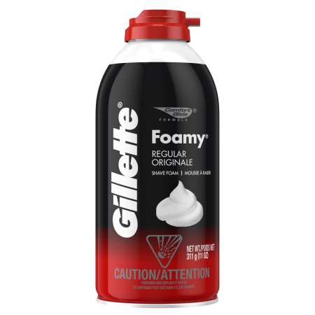 GILLETTE - FOAMY SHAVE FOAM - (Regular) - 11oz