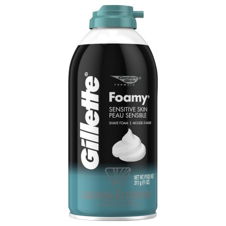 GILLETTE - FOAMY SHAVE FOAM - (Sensitive Skin) - 11oz