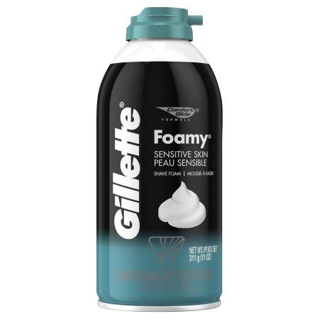 GILLETTE - FOAMY SHAVE FOAM - (Sensitive Skin) - 11oz