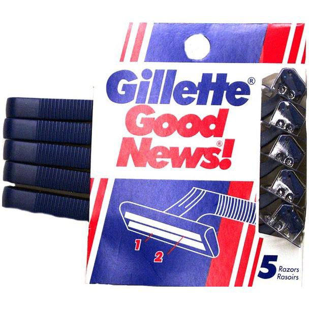GILLETTE - GOOD NEWS - 5RAZORS