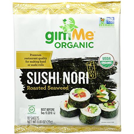 GIMME ORGANIC - SUSHI NORI | ROASTED SEAWEED - NON GMO - 0.81oz