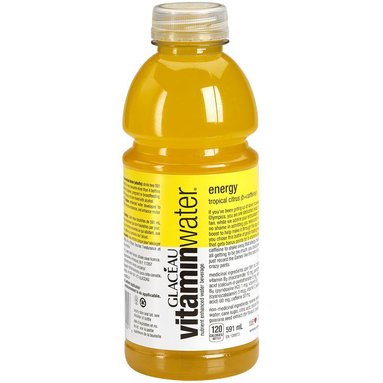 GLACEAU - VITAMIN WATER - (Energe | Tropical Citrus) - 20oz