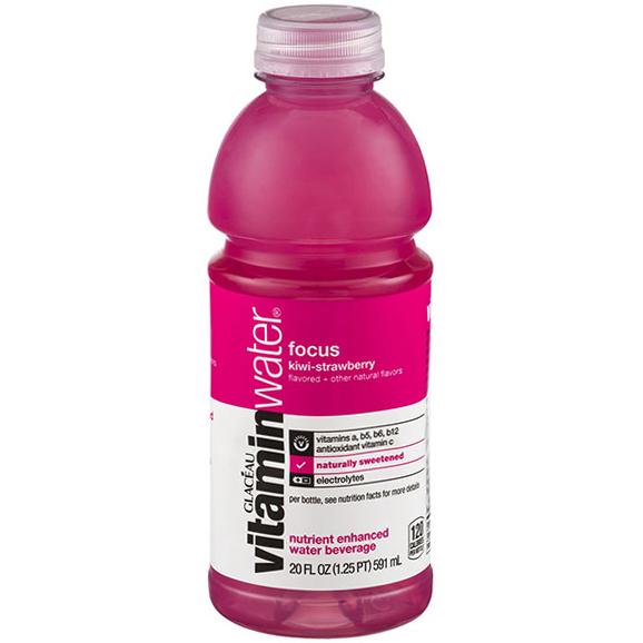 GLACEAU - VITAMIN WATER - (Focus | Kiwi Strawberry) - 20oz