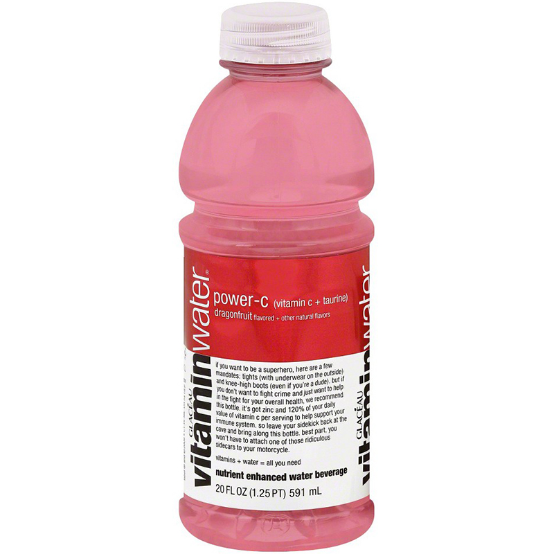 GLACEAU - VITAMIN WATER - (Power-C   Dragonfruit) - 20oz