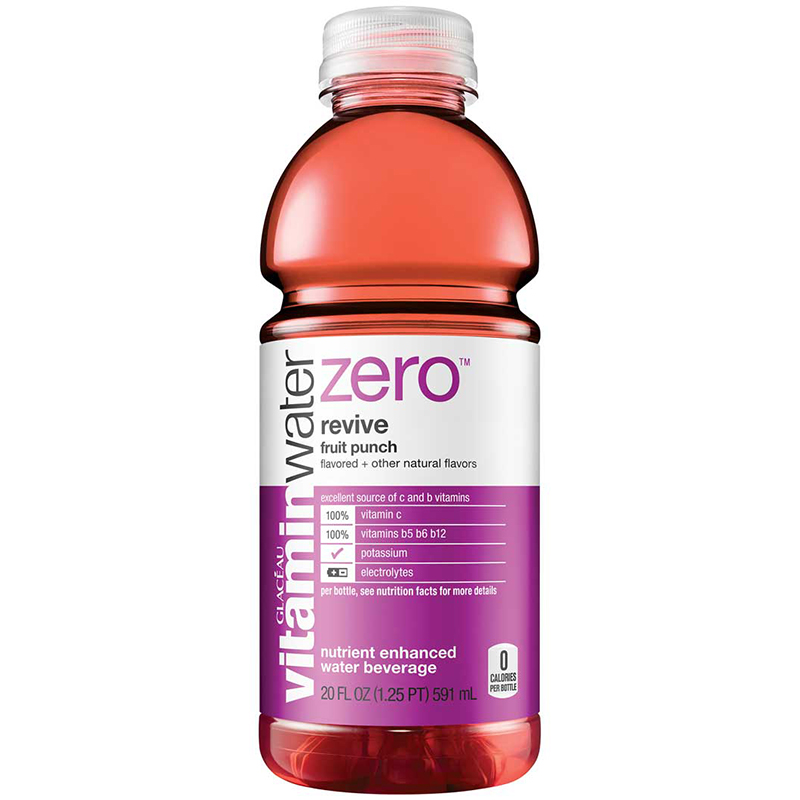 GLACEAU - VITAMIN WATER - (Revive | Fruit Punch) - 20oz
