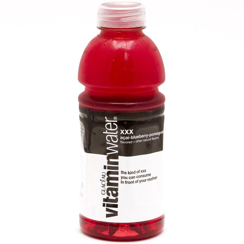 GLACEAU - VITAMIN WATER - ( XXX | Acei-Blueberry-Pomegranate) - 20oz