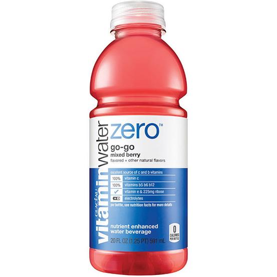 GLACEAU - VITAMIN WATER ZERO - (Go Go | Mixed Berry) - 20oz