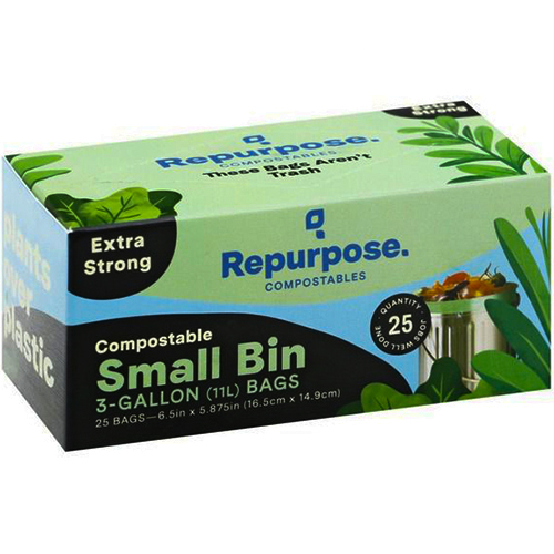 REPURPOSE - COMPOSTABLE SMALL BIN 3GALLON BAGS - 25PCS