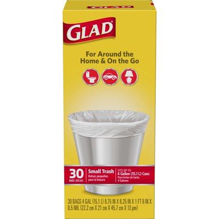 GLAD - FORCEFLEX SMALL TRASH - 30BAGS