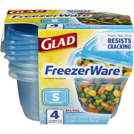 GLAD - FREEZER WARE - (Small) - 4containers