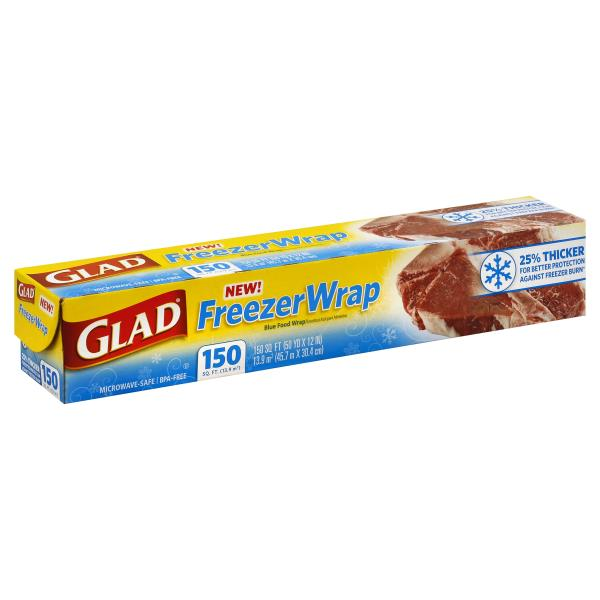 GLAD - FREEZER WRAP - 150sqft