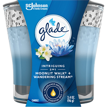 GLADE - CANDLE (Moonlit Walk + Wandering Stream) - 3.4oz