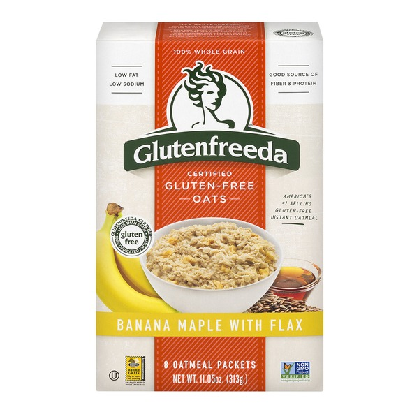 GLUTENFREEDA - 100% WHOLE GRAIN OATS - (Banana Maple with Flax) - 11.2oz