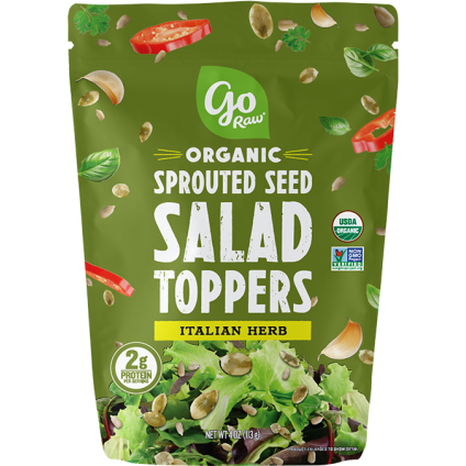 GO RAW - ORGANIC SPROUTED SEED SALAD TOPPERS - (Italian Herb) - 4oz