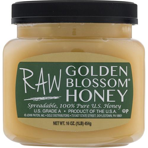 GOLDEN BLOSSOM - SPREADABLE 100% PURE U.S. RAW HONEY - 16oz