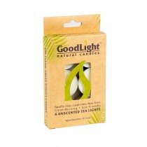 GOODLIGHT - 24 UNSCENTED TEA LIGHTS - 6PCS