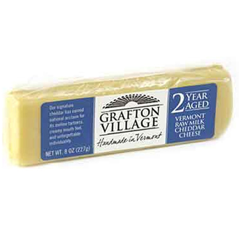 GRAFTON VILLAGE - VERMONT RAW MILK CHEDDAR CHEESE - (2years Aged) - 8oz