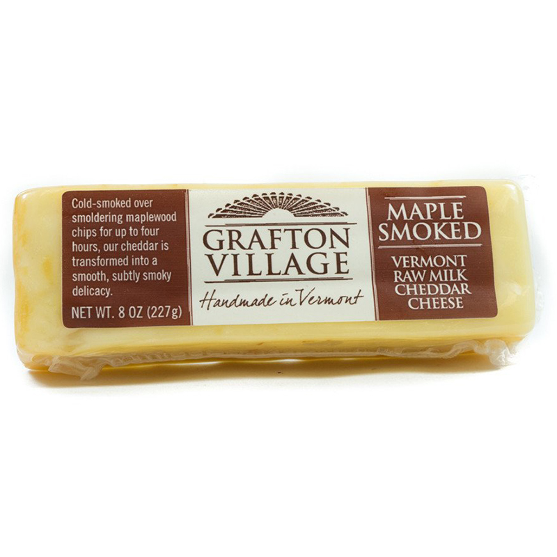 GRAFTON VILLAGE - VERMONT RAW MILK CHEDDAR CHEESE - (Maple Smoked) - 8oz