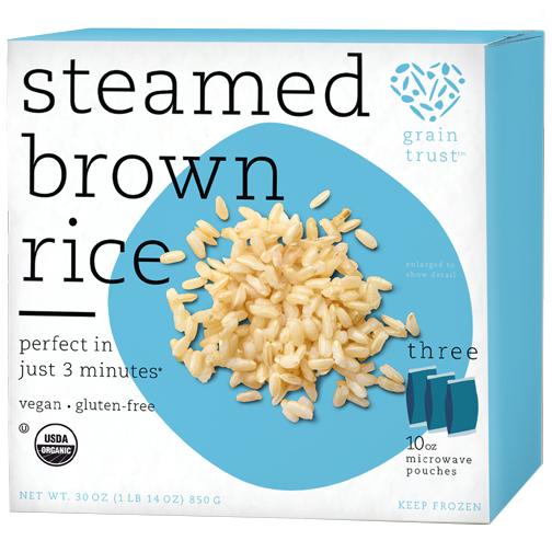 GRAIN TRUST - STEAMED BROWN RICE - GLUTEN FREE - VEGAN - 30oz