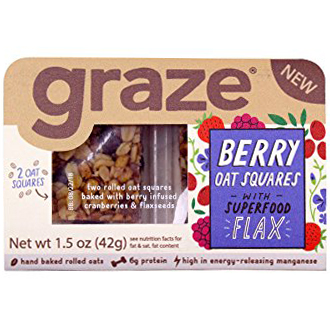 GRAZE - (Berry Oat Squares with Flax) - 1.5oz