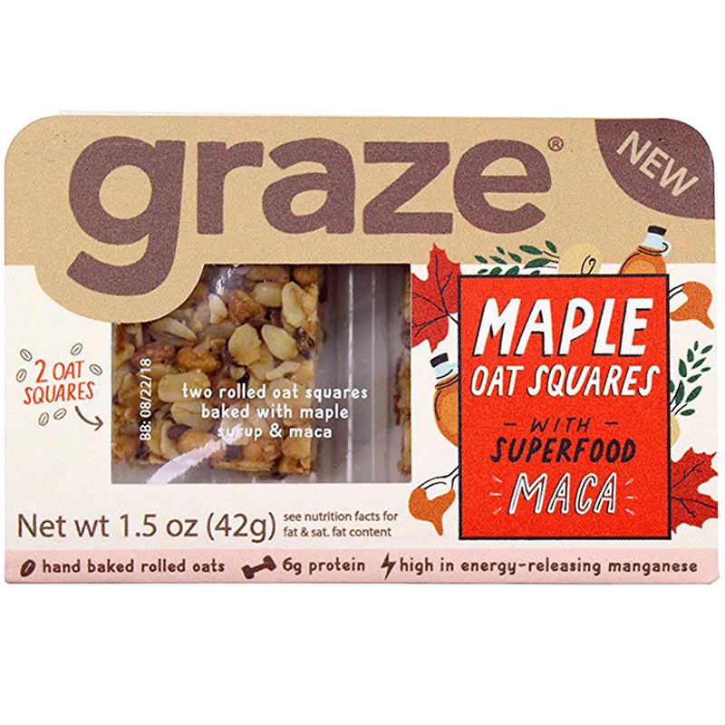 GRAZE - (Maple Oat Squares with Maca) - 1.5oz