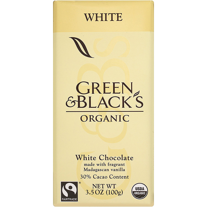 GREEN & BLACK'S - ORGANIC WHITE CHOCOLATE - 30% Cacao /w Madagascan Vanilla- 3.5oz