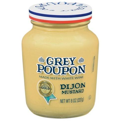 GREY POUPON - MUSTARD - SAUCE - (Dijon) - 8oz