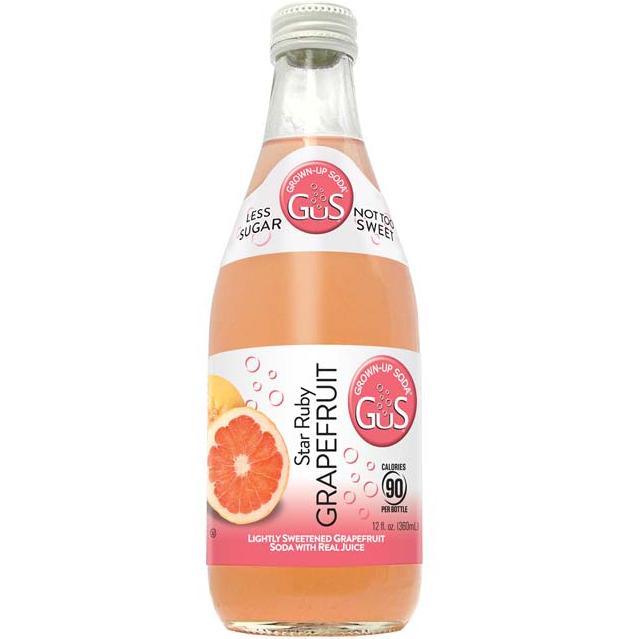 GUS - GROWN UP SODA - (Star Ruby Grapefruit) - 12oz