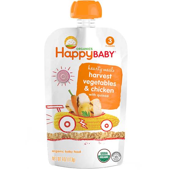 HAPPY BABY - HARVEST VEGETABLES & CHICKEN WITH QUINOA - 4oz
