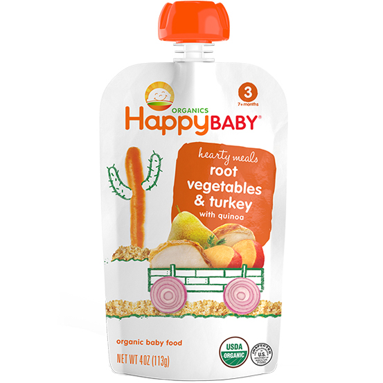 HAPPY BABY - ROOT VEGETABLES & TURKEY WITH QUINOA - 4oz