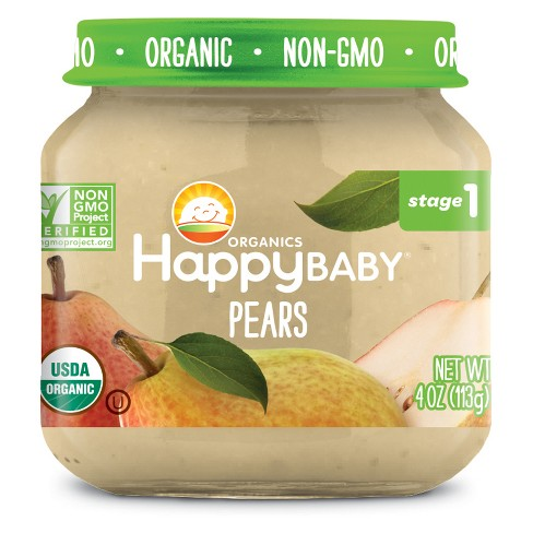 HAPPY BABY - STAGE 1 - NON GMO - (Pears) - 4oz