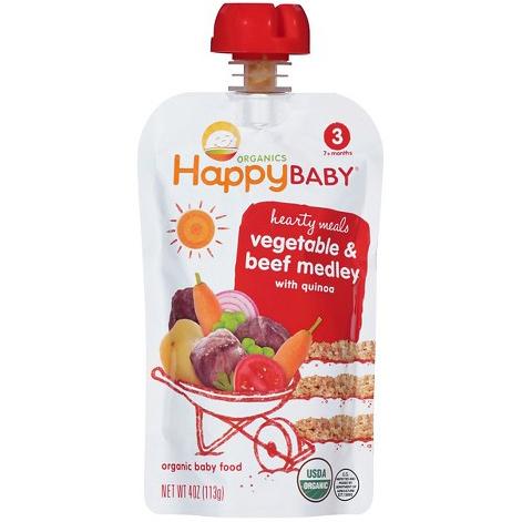 HAPPY BABY - VEGETABLE & BEEF MEDLEY WITH QUINOA - 4oz