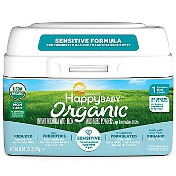 HAPPYBABY - ORGANIC INFANT FORMULA  Stage 1 for Babies 0-12 Months - (Sensitive) -21oz
