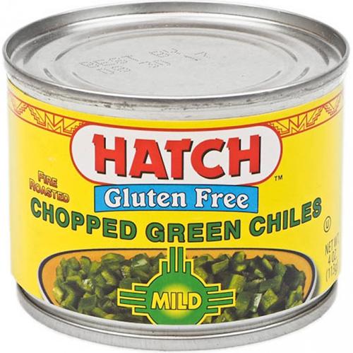 HATCH - DICED GREEN CHILES - GLUTEN FREE - (Mild) - 4oz
