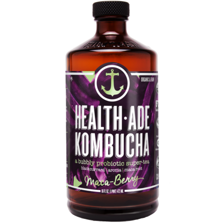 HEALTH ADE - KOMBUCHA TEA - (Maca - Berry) - 16oz