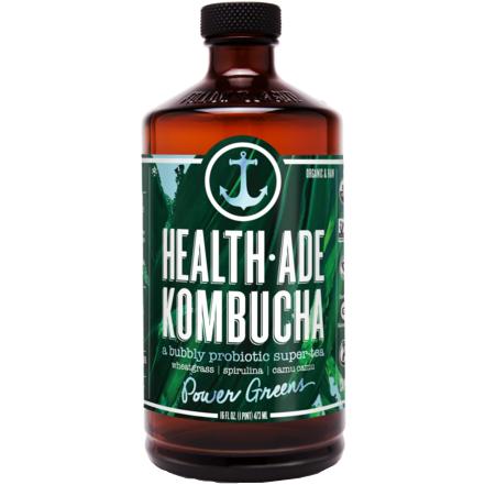HEALTH ADE - KOMBUCHA TEA - (Power Greens) - 16oz