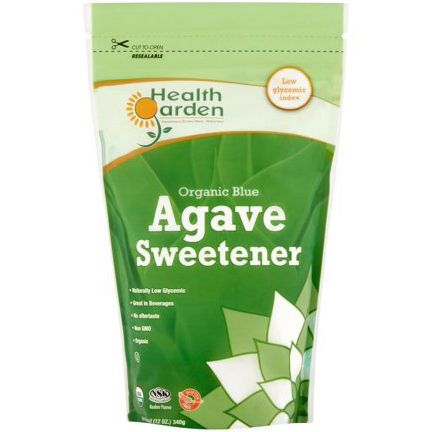 HEALTH GARDEN - ORGANIC BLUE AGAVE SWEETENER - NON GMO - GLUTEN FREE - 12oz